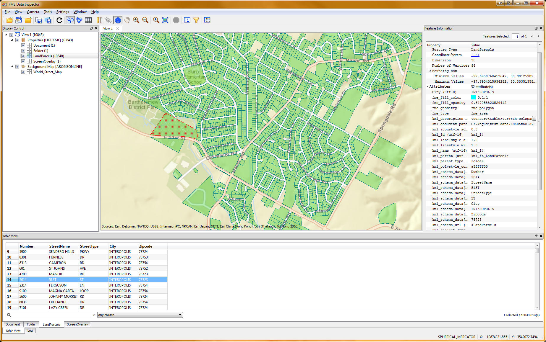 ArcGIS Online Basemap in the FME Data Inspector