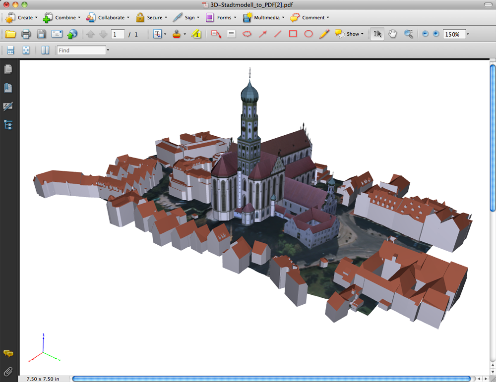 city of Augsburg 3d model