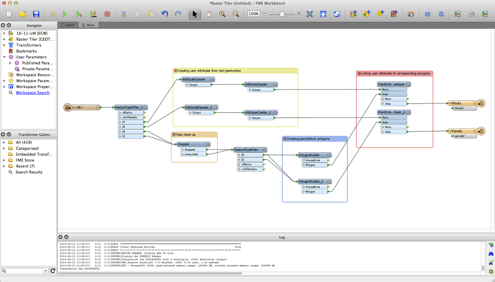 mapinfo example in fme workbench