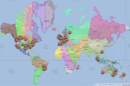 FME World Tour 2013 Map